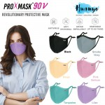 ProXmask 90 V 5 Layer Anti Virus BFE Reusable Washable Fabric 3D Face Mask with Nose Clip & Adjustable Ear loop (Pastel Colour   Water Repellent   Up to 60 Hand Washes   Adjustable Earloop   Nose Clip   Breathable   Skin Friendly)