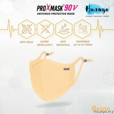 ProXmask 90V / 90 V 5 Layer Anti Virus BFE Reusable Washable Fabric 3D Face Mask with Nose Clip & Adjustable Ear loop (Pastel Colour | Water Repellent | Up to 60 Hand Washes | Adjustable Earloop | Nose Clip | Breathable | Skin Friendly)