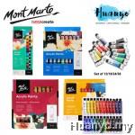 Mont Marte Signature Acrylic Colour Paint Set (Color Set of 12 / 18 / 24 / 36, 12ML Tube)