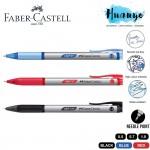 Faber-Castell Grip X5 X7 X10 Retractable Triangular Rubber Grip Ball Pen (Black/Blue /Red, 0.5mm/0.7MM/1,0MM)[Per Pcs]