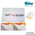 (Simili Matte / Glossy) A4 Easy Peeling Printable White Sticker Paper 150gsm For Inkjet Printer (10pcs/pack)