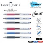 Faber-Castell Air Gel Fast Dry Retractable Extra Soft Rubber Grip Gel Pen (Black/Blue /Red, 0.5mm/0.7MM, Ink Refillable)[Per Pcs]