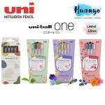 [Limited Edition] Uni-ball One Retractable Colour Ink Gel Pen 0.38mm Set of 4 / 5 (Fruit Tea / Vintage Set)