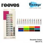 Reeves Artist Gouache Water Colour Set of 12 (12ML Tube)