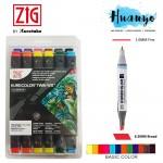 Zig Kurecolor Twin Color Marker Set (12 Basic Colors) KC-3000N/12B1