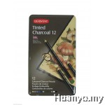 Derwent Tinted Charcoal (Tin Of 12)