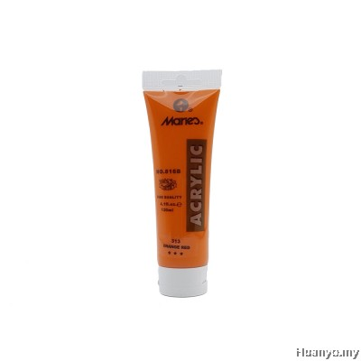 Marie's Acrylic Colour 120ML No.313 (Orange Red)