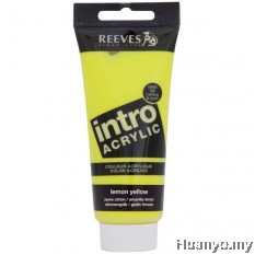 Reeves Acrylic Colour 120ML (Lemon Yellow)