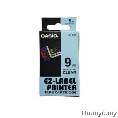Casio EZ-Label Tape Cartridge 9mm - Clear
