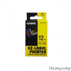 Casio EZ-Label Tape Cartridge 12mm - Yellow