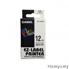 Casio EZ-Label Tape Cartridge 12mm - White