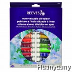 Reeves Water Mixable Oil Paint Colour (Set of 24)