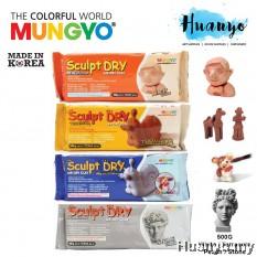Mungyo Sculpt Dry Modeling Air Dry Clay/Paper Clay 500G - (White / Terracotta Brown / Peach Skin / Stone Grey Colour)