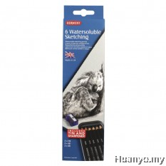 Derwent Watersoluble Sketching Pencils (Tin of 6)