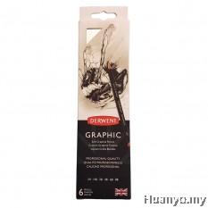 Derwent Graphic Pencils Set (Set of 6:  2H, HB, 2B, 4B, 6B, 8B)