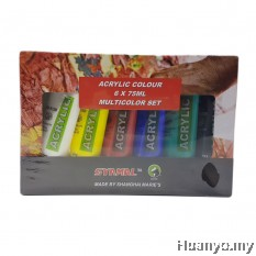 Marie's Acrylic Colours 75ML (Set of 6)
