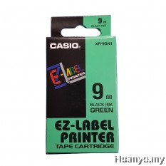 Casio EZ-Label Tape Cartridge 9mm - Green