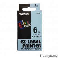 Casio EZ-Label Tape Cartridge 6mm - Clear