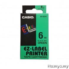 Casio EZ-Label Tape Cartridge 6mm - Green