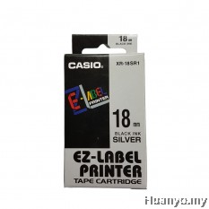 Casio EZ-Label Tape Cartridge 18mm - Silver