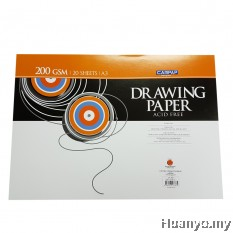 CAMPAP Drawing Paper 200GSM A3 Size (20 sheets/pack)