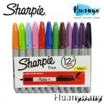 Sharpie Permanent Marker Fine (Colors of 12) - SMAP014906