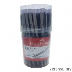 Faber-Castell Click X5 Ball Pen Black 0.5mm (Set Of 40)