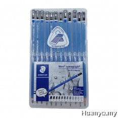 Staedtler Mars Lumograph Drawing and Sketching Pencils  (Set of 12 degrees)