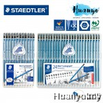 (Wallet Set of 12  / 24 degrees) Staedtler Mars Lumograph 100 Drawing and Sketching Pencils Set