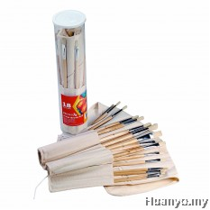 Reeves Artist Brush Roll (18 Hog Brushes)