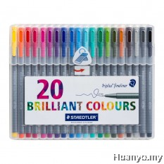 Staedtler Triplus Fineliner 0.3mm (Set of 20 Colours)