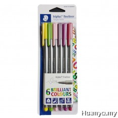 Staedtler Triplus Fineliner 0.3mm  - Floria (Set of 6 Colours)