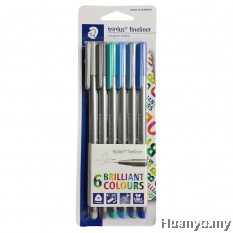 Staedtler Triplus Fineliner 0.3mm - Oceana (Set of 6  Colours)