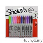 Sharpie Permanent Marker Fine (Colors of 12 - Blister Pack Set 1)