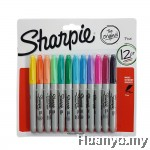 Sharpie Permanent Marker Fine (Colors of 12 - Blister Pack Set 2)