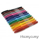 Pentel Fude Touch Brush Sign Pen Set (Colours of 12)