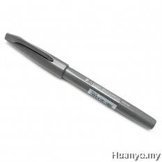 Pentel Fude Touch Brush Sign Pen  - Gray