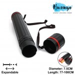 A0 Expandable Telescopic Art Blueprint Plastic Storage Drawing Tube (Diameter: 7.5cm, Length: 60cm - 103.5cm)