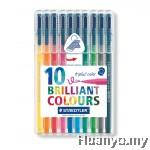 Staedtler Triplus Colour Fiber Tip Pens (Colours of 10)