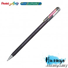 Pentel Hybrid Dual Metallic Gel Pen (Black and Metallic Red)