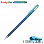 Pentel Hybrid Dual Metallic Gel Pen (Blue and Metallic Green)