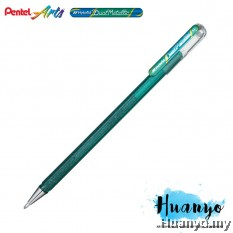 Pentel Hybrid Dual Metallic Gel Pen (Green and Metallic Blue)