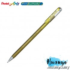 Pentel Hybrid Dual Metallic Gel Pen (Gold)