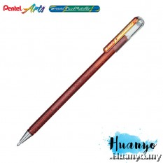 Pentel Hybrid Dual Metallic Gel Pen (Orange and Metallic Yellow)