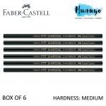 Faber-Castell PITT Charcoal Pencil (Medium) - Box of 6