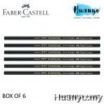 Faber-Castell PITT Charcoal Pencil (Hard) - Box of 6