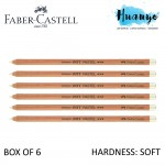 Faber-Castell PITT Pastel Pencil-White (Soft) - Box of 6