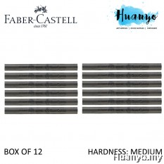 Faber-Castell PITT Compressed Charcoal Stick (Medium) - Box of 12