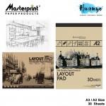 Masterprint Layout Paper Pad A3 / A2 (70gsm - 30 sheets)