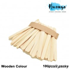 Wooden Popsicle Ice Cream Sticks (100pcs/2 packs)